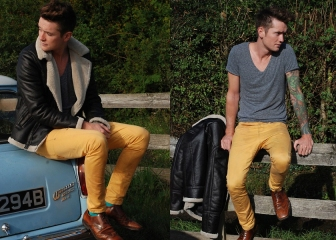 AW13 Colored Trousers Trend Guide